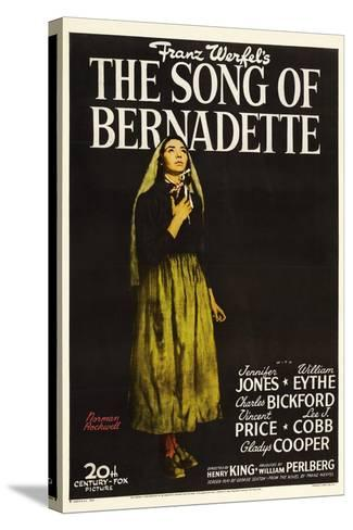 """Franz Werfel's the Song of Bernadette, 1943, """"The Song of Bernadette"""" Directed by Henry King--Stretched Canvas Print"""