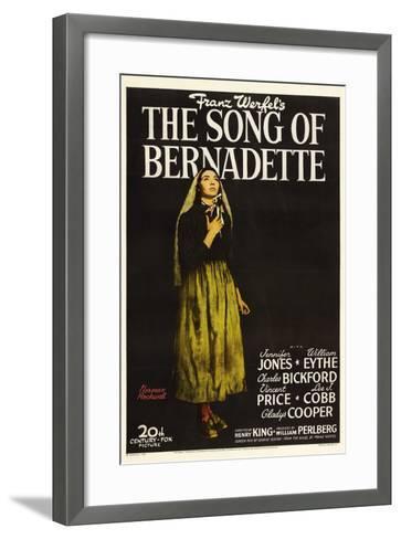 "Franz Werfel's the Song of Bernadette, 1943, ""The Song of Bernadette"" Directed by Henry King--Framed Art Print"