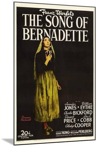 """Franz Werfel's the Song of Bernadette, 1943, """"The Song of Bernadette"""" Directed by Henry King--Mounted Giclee Print"""
