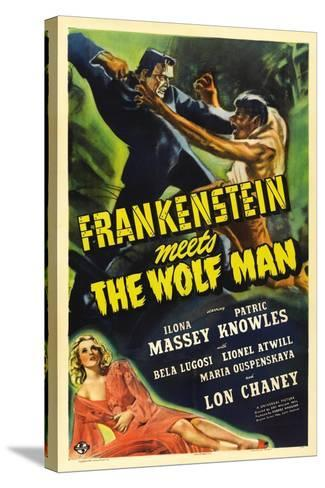 Frankenstein Meets the Wolf Man, 1943, Directed by Roy William Neill--Stretched Canvas Print