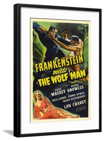 Frankenstein Meets the Wolf Man, 1943, Directed by Roy William Neill--Framed Art Print