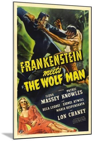 Frankenstein Meets the Wolf Man, 1943, Directed by Roy William Neill--Mounted Giclee Print