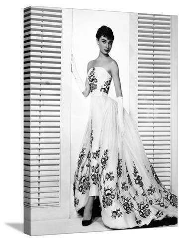 "Audrey Hepburn. ""Sabrina Fair"" 1954, ""Sabrina"" Directed by Billy Wilder. Custome by Edith Head--Stretched Canvas Print"