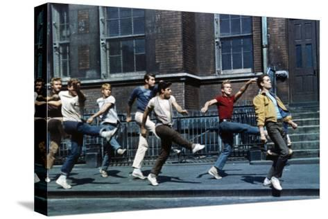 """Russ Tamblyn, Tony Mordente. """"West Side Story"""" 1961, Directed by Robert Wise--Stretched Canvas Print"""