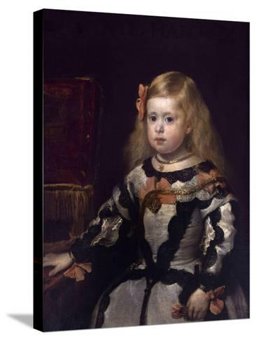Infanta Margaret of Austria, Philip Iv's Daughter-Diego Velazquez-Stretched Canvas Print