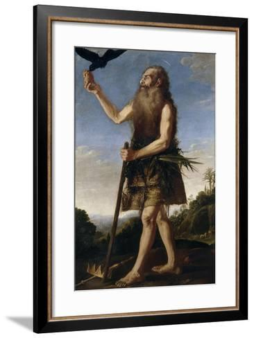 Saint Onuphrius, Ca. 1645, Spanish School-Francisco Collantes-Framed Art Print