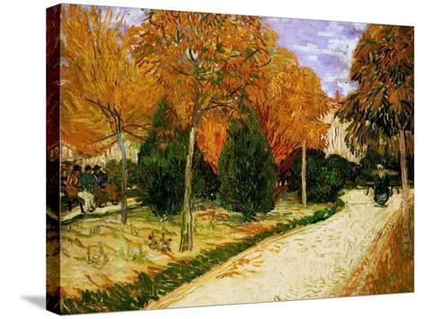 'Autumnal Garden' or 'The Public Park', 1888-Vincent van Gogh-Stretched Canvas Print