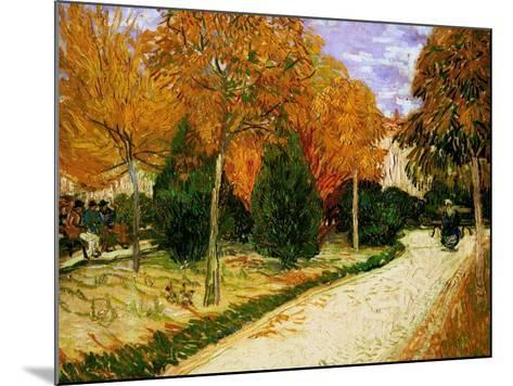 'Autumnal Garden' or 'The Public Park', 1888-Vincent van Gogh-Mounted Giclee Print