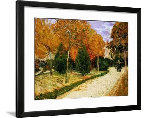 'Autumnal Garden' or 'The Public Park', 1888-Vincent van Gogh-Framed Art Print