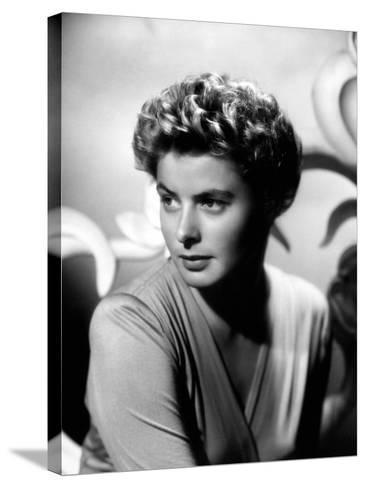 """Ingrid Bergman. """"For Whom the Bell Tolls"""" 1943, Directed by Sam Wood--Stretched Canvas Print"""