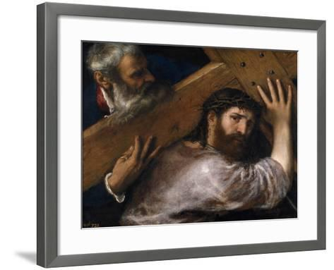 Christ And the Cyrenian, Ca. 1565, Italian School--Framed Art Print