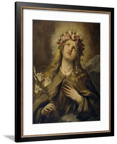 Saint Rosalia, Ca. 1697, Italian School-Luca Giordano-Framed Art Print