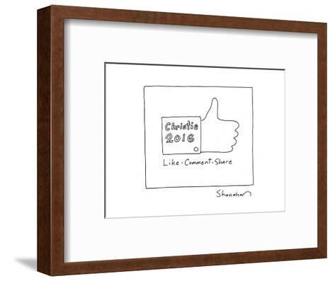 Christie 2016 - Cartoon-Danny Shanahan-Framed Art Print