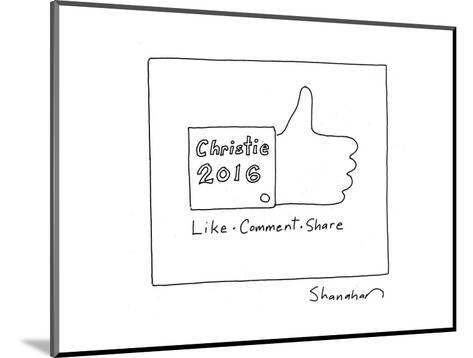 Christie 2016 - Cartoon-Danny Shanahan-Mounted Premium Giclee Print