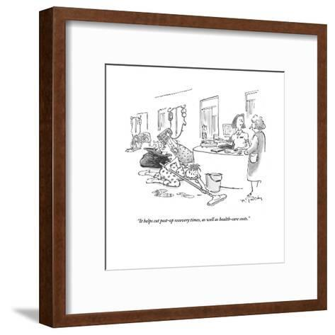 """It helps cut post-op recovery times, as well as health-care costs."" - Cartoon-Mike Twohy-Framed Art Print"
