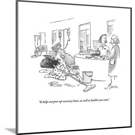 """It helps cut post-op recovery times, as well as health-care costs."" - Cartoon-Mike Twohy-Mounted Premium Giclee Print"