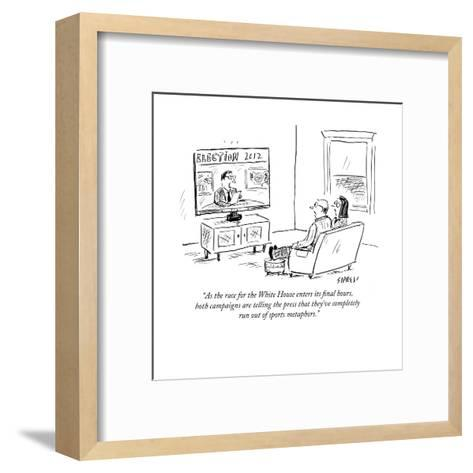 """As the race for the White House enters its final hours, both campaigns ar?"" - Cartoon-David Sipress-Framed Art Print"