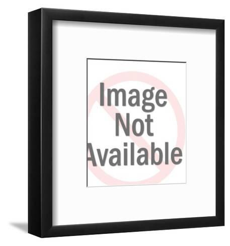 Smiling Woman with Large Check-Pop Ink - CSA Images-Framed Art Print