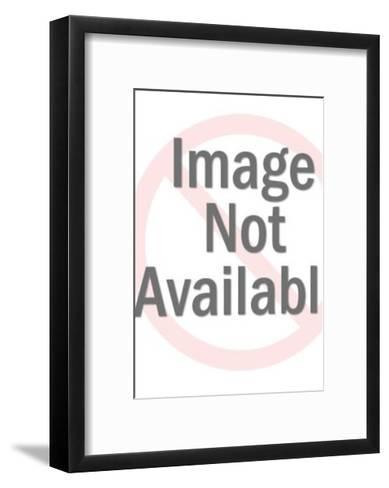Man Holding Briefcase in Front of his Body-Pop Ink - CSA Images-Framed Art Print