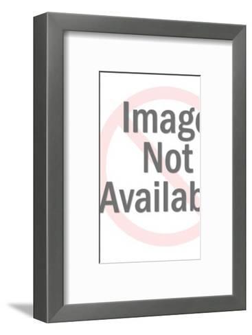 Man Carrying Blank Sign-Pop Ink - CSA Images-Framed Art Print