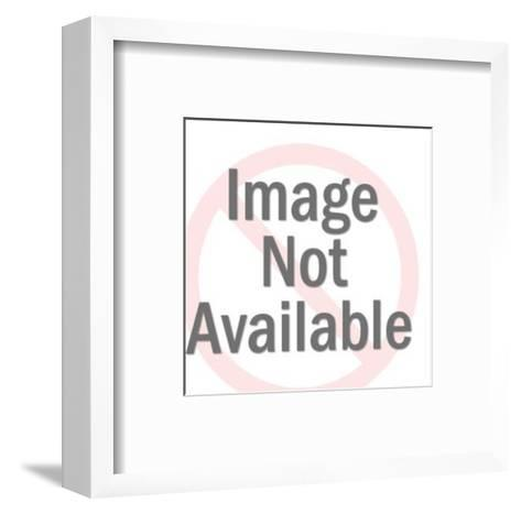 Man Pointing to Blank Display-Pop Ink - CSA Images-Framed Art Print