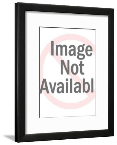 Man Holding up Large Book with Hands and Feet-Pop Ink - CSA Images-Framed Art Print