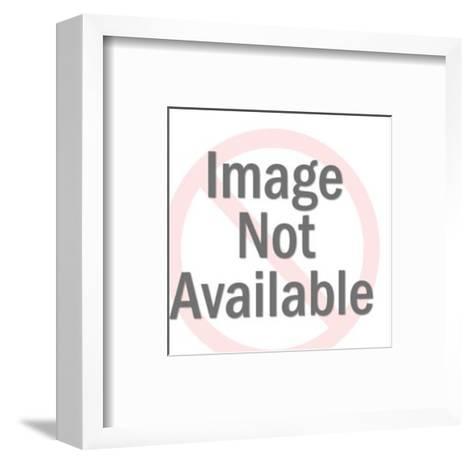 Man Talking to Woman at Swimming Pool-Pop Ink - CSA Images-Framed Art Print