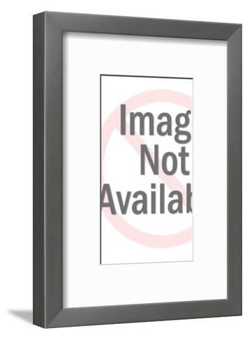 Man Reading Oversize Newspaper-Pop Ink - CSA Images-Framed Art Print
