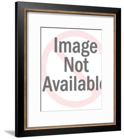 Woman Reading Newspaper-Pop Ink - CSA Images-Framed Art Print