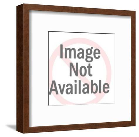 Man and Woman Looking at Photo Album-Pop Ink - CSA Images-Framed Art Print
