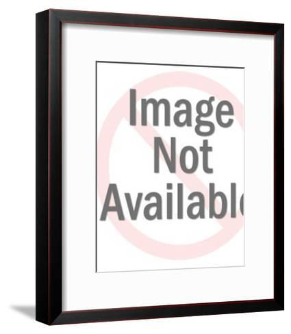 Man Carrying Blank Sign-Pop Ink - CSA Images-Framed Art Print