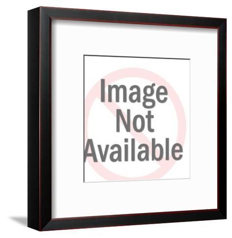 Smiling Man in Eyeglasses-Pop Ink - CSA Images-Framed Art Print