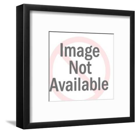 Fat Man with Cigar About to Fall in Hole-Pop Ink - CSA Images-Framed Art Print