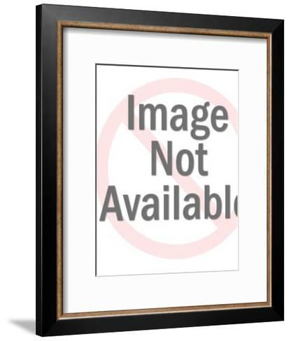 Woman About to Fall off Ladder-Pop Ink - CSA Images-Framed Art Print