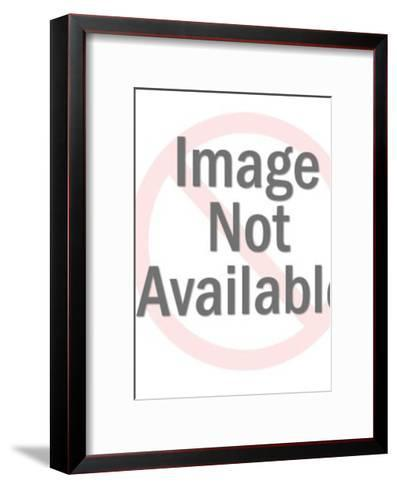 Woman Putting on Girdle-Pop Ink - CSA Images-Framed Art Print