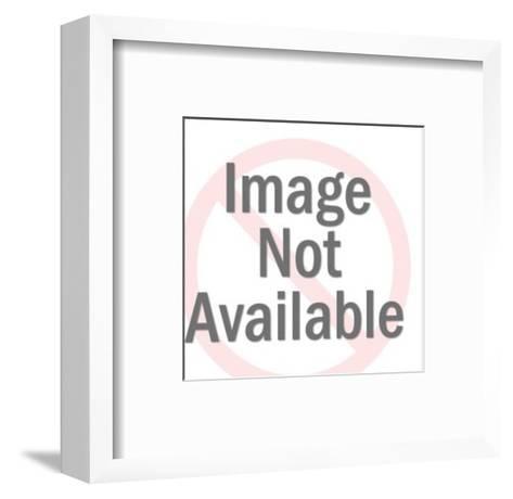 Girl Eating-Pop Ink - CSA Images-Framed Art Print