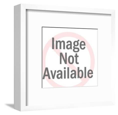 Laughing Bald Clown-Pop Ink - CSA Images-Framed Art Print