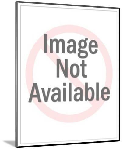 Laughing Bald Clown-Pop Ink - CSA Images-Mounted Art Print