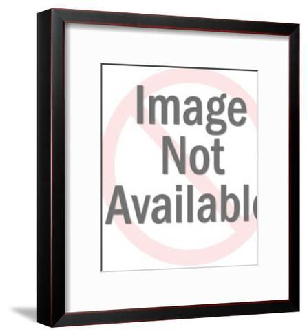 Man Pointing to Ground-Pop Ink - CSA Images-Framed Art Print