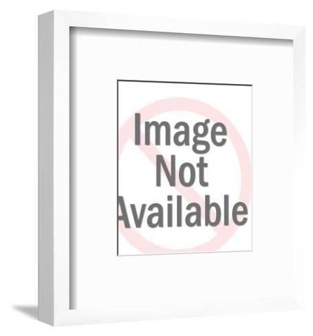 Man Carrying Large Blank Sign-Pop Ink - CSA Images-Framed Art Print