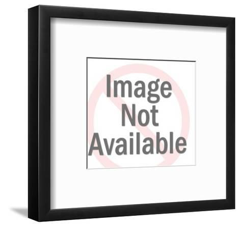 Two Men Laughing and Trading Cards-Pop Ink - CSA Images-Framed Art Print
