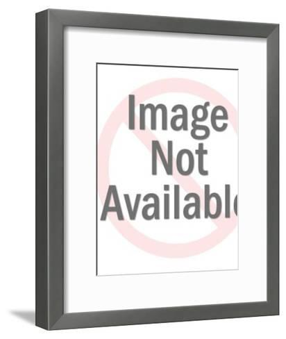 Man Dressing Woman in Paper Dress-Pop Ink - CSA Images-Framed Art Print