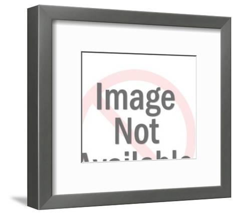 Policeman Halting Traffic-Pop Ink - CSA Images-Framed Art Print