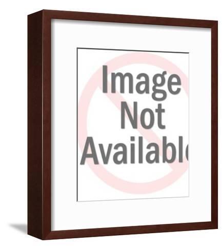 Man on Exercise Machine-Pop Ink - CSA Images-Framed Art Print