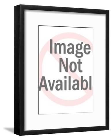 Man Standing by Giant Stack of Coins-Pop Ink - CSA Images-Framed Art Print
