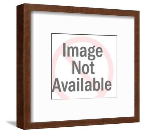 Dollar Sign Crushing People-Pop Ink - CSA Images-Framed Art Print