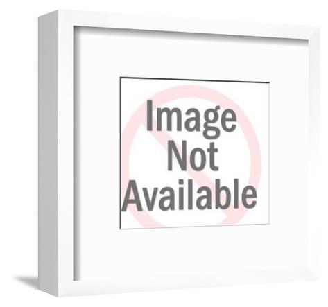 Santa Claus and Banner-Pop Ink - CSA Images-Framed Art Print