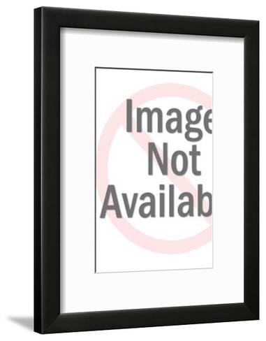 Santa Claus with Sack of Toys and Blank Sign-Pop Ink - CSA Images-Framed Art Print