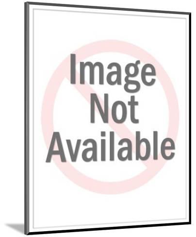 Man Mowing Lawn-Pop Ink - CSA Images-Mounted Art Print