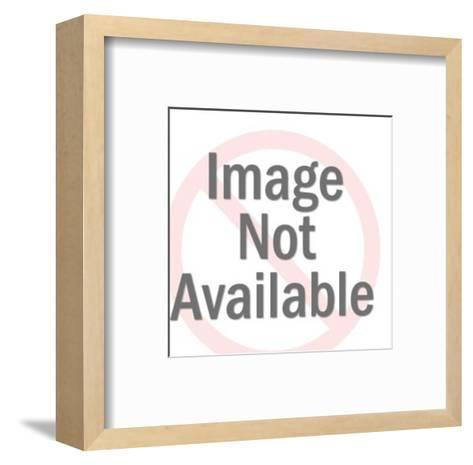Santa Claus Reading the List-Pop Ink - CSA Images-Framed Art Print